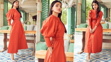 When Samantha Akkineni Aced High Fashion in a Chrome Orange Dress Worth Rs. 10,500!