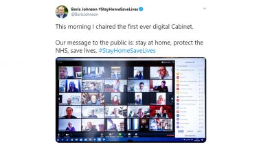 Boris Johnson Holds UK's First Virtual Cabinet Meeting, Tweets Picture Revealing Username of Ministers