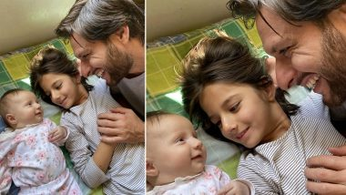 Shahid Afridi Shares Adorable Picture With Daughters Arwa and Asmara, Says 'They Make My Morning and the Whole Day'