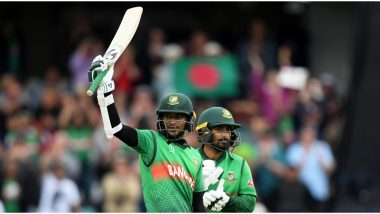 Shakib Al Hasan Raises Over Rs 18 Lakh From 2019 Cricket World Cup Bat Auction to Assist in Fight Against Coronavirus Pandemic