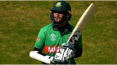 Shakib Al Hasan to Auction Bat He Used During ICC 2019 Cricket World Cup to Raise Money for COVID-19 Relief Fund