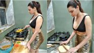 Sherlyn Chopra Gives Cooking a Sexy Twist As She Prepares 'Rotis and Cabbage Sabzi' in a Racy Outfit (View Pics)