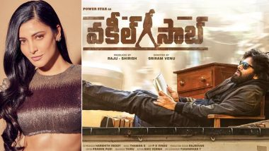 Is Shruti Haasan Being Paired Opposite Pawan Kalyan in Vakeel Saab?