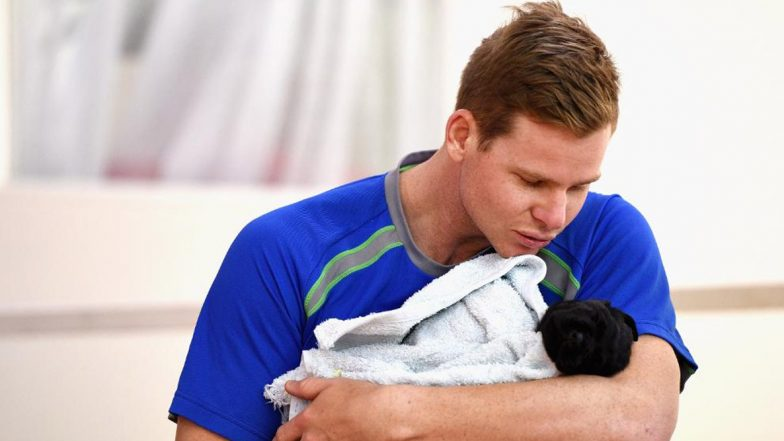 Doggos of Cricket! From Steve Smith Holding Cute Puppy to Dog Running Across the Cricket Field, ICC Shares Fun Thread Depicting Love Between Dogs and Cricketers
