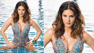 Sunny Leone Lets Her Sexy Siren Loose In This Bejewelled Monokini and We Can't Stop Staring!