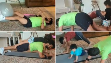 Suresh Raina Works Out With Kids at Home Amid COVID-19 Lockdown, Watch Adorable Video