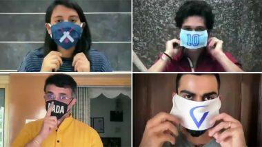 From Virat Kohli, Sachin Tendulkar to Smriti Mandhana, Indian Cricket Fraternity Join Mask Force to Fight Against Coronavirus (Watch Video)