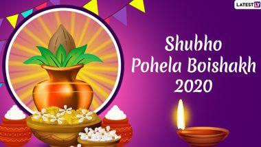 Happy Pohela Boishakh 2020 Greetings, Wishes, HD Images: Say Subho Noboborsho 1427 With These WhatsApp Stickers, Poila Baisakh Messages, GIFs to Celebrate Bengali New Year