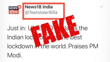 UNESCO Declares the Indian Lockdown As Best Lockdown in the World? Know Truth About This Fake News