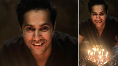 Varun Dhawan Poses With A Heart-Shaped Cake As He Celebrates His 33rd Birthday With Family Amid Lockdown (View Pic)