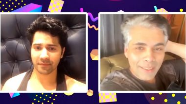 Karan Johar Flaunts His Grey Hair amid Lockdown and Varun Dhawan Is in Love with KJo's New Look (Watch Video)