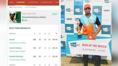 Cricketer Vinod Chauhan Sets a Record in Club Match!