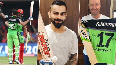 Virat Kohli, AB de Villiers to Auction Bats, Gloves and Other Items From Their Record 229 Runs Partnership During RCB vs Gujarat Lions Clash in IPL 2016