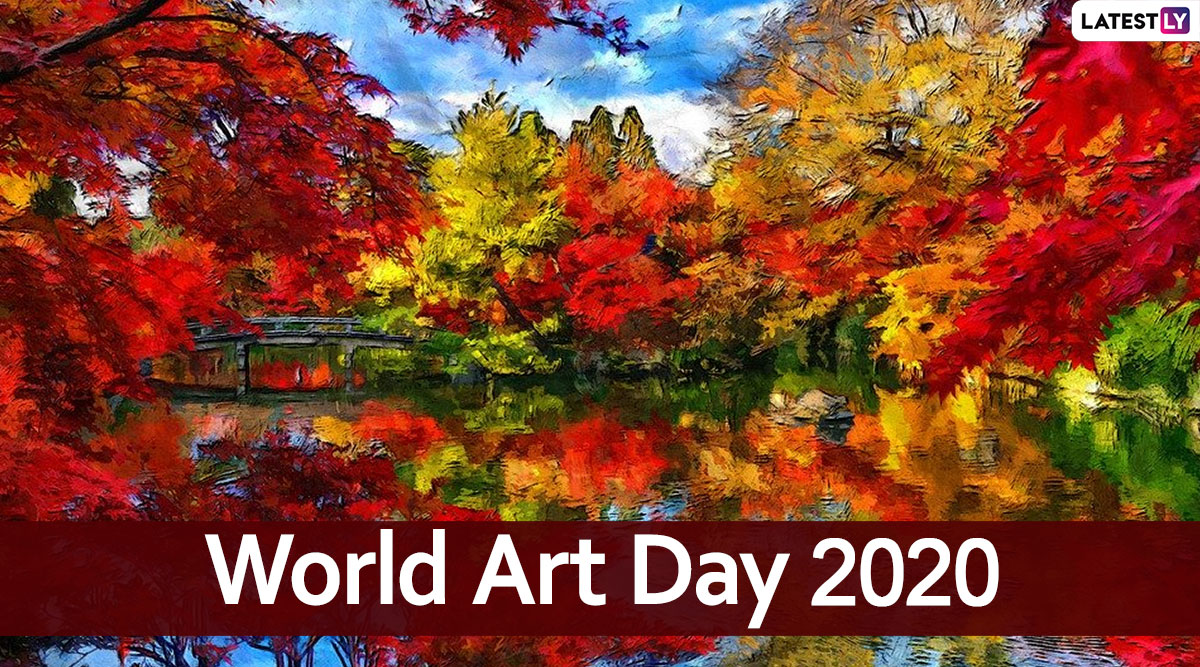 World Art Day - 15 April  IMAGES, GIF, ANIMATED GIF, WALLPAPER, STICKER FOR WHATSAPP & FACEBOOK
