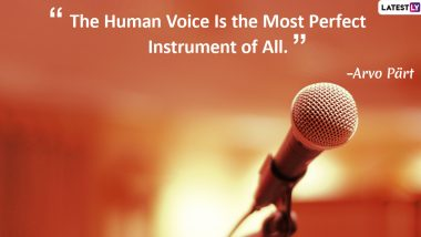 World Voice Day 2020 Images With Quotes: Powerful Sayings That Highlight The Importance of Voice