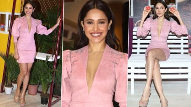 Yo or Hell No? Nushrat Bharucha in Rudraksh Dwivedi Pink Dress – View Pics