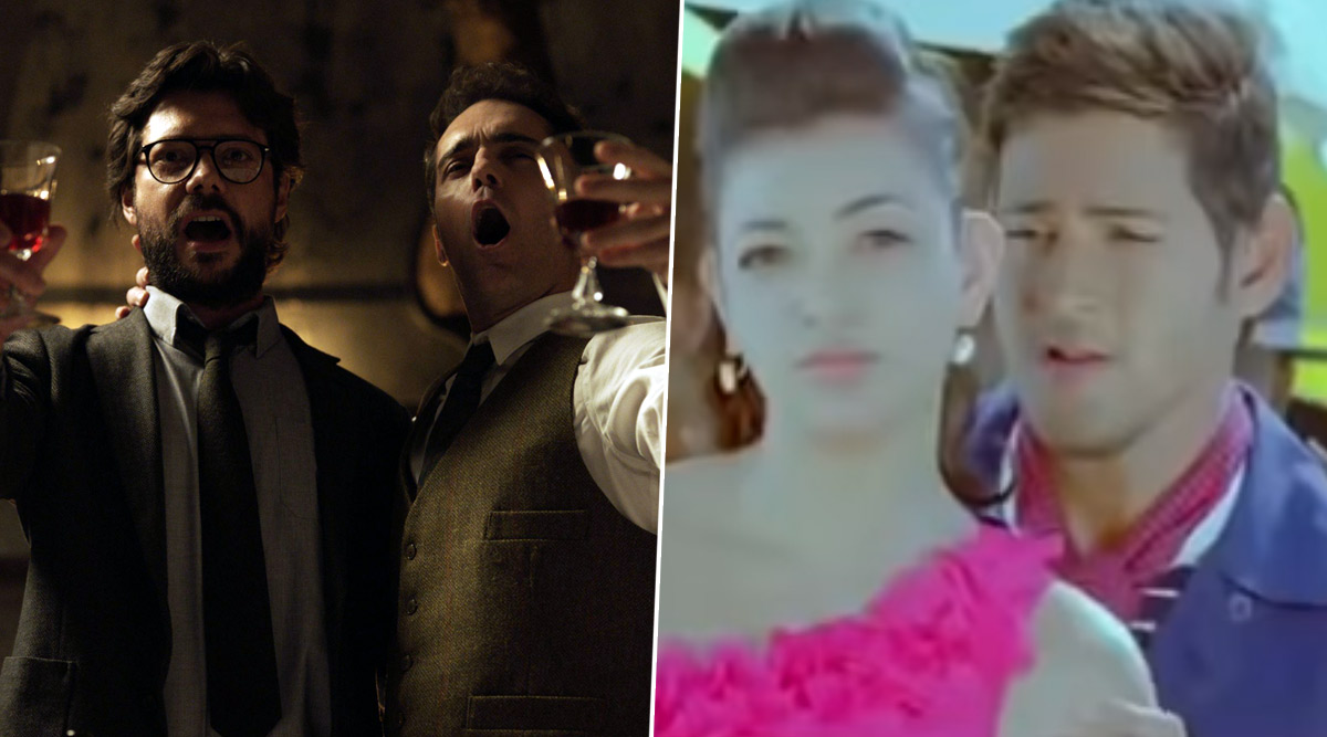 Desi Money Heist 4 Fans Dig Up Mahesh Babu-Kajal Aggarwal's 'Pilla Chao,' Compare it With 'Bella Ciao!' (Watch Video)