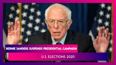 Bernie Sanders Pulls Out Of US Democratic Party's Presidential Nominee Race, Makes Way For Joe Biden