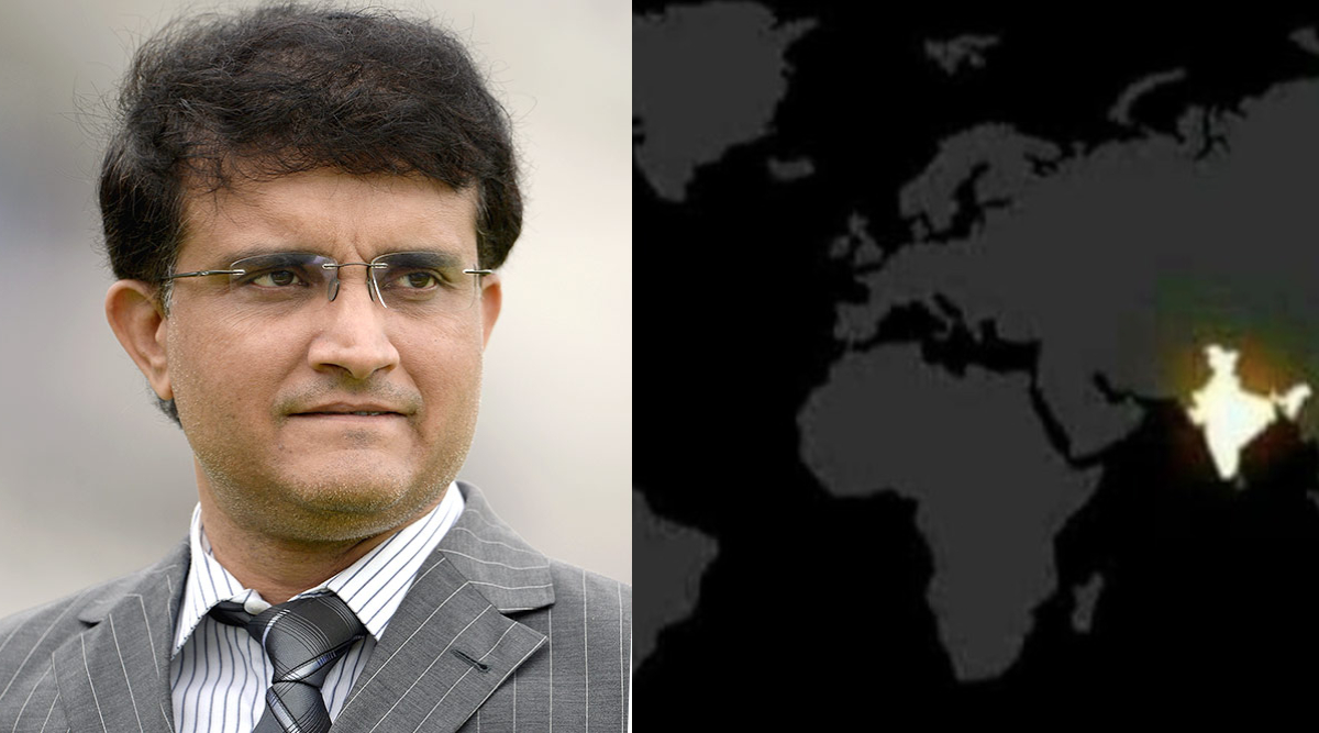 Sourav Ganguly Shares Picture of India to Show Unity, Netizens Question if BCCI President Fell for Fake NASA Satellite Pic of Diwali (See Deleted Instagram Post)