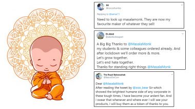 Masala Monk Wins Hearts on Twitter And Facebook With Savage Reply to User's 'Hateful Comment' Against Muslims; Grocery And Food Brand Gets Praises And New Fans