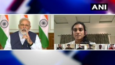 PM Narendra Modi Speaks to 40 Top Indian Sportspersons Including Sourav Ganguly, Yuvraj Singh, PV Sindhu & Others on Video Conference Amid Coronavirus Crisis