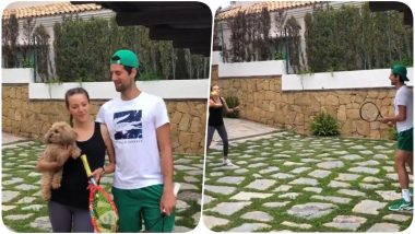 Novak Djokovic Takes Up 100-Volley Challenge With Wife Jelena, Posts a Video on Social Media