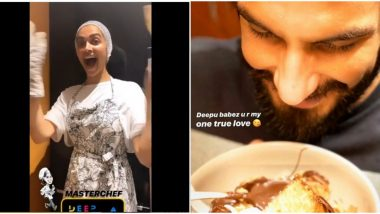 Deepika Padukone Dons Chef's Hat for Ranveer Singh During COVID-19 Lockdown (View Pics)