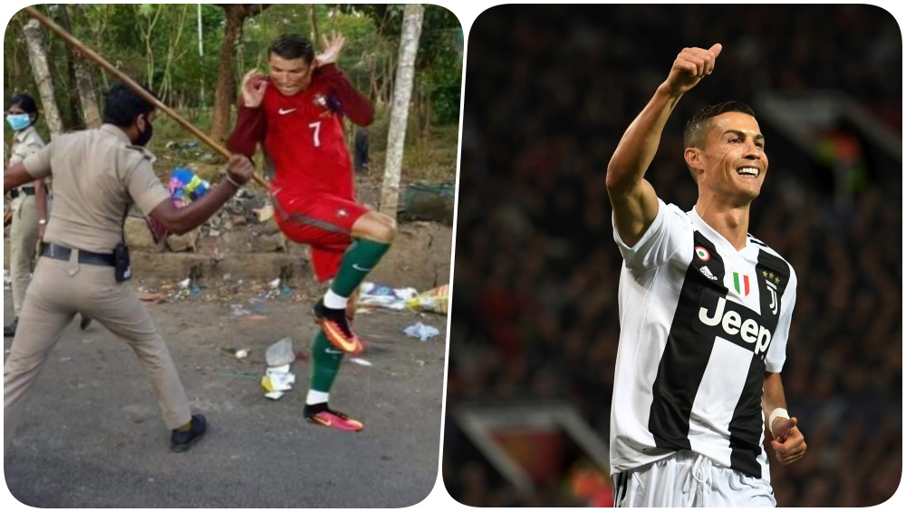 Fan Creates Funny Memes of Cristiano Ronaldo in India ...