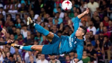 Cristiano Ronaldo's Crazy Bicycle Goal During Juventus vs Real Madrid, Champions League 2017-18 Relived by Los Blancos (Watch Video)