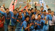 Chennai Super Kings Hails MS Dhoni's Winning Six, Mumbai Indians Posts a Picture of the Men in Blue Celebrating 2011 World Cup Victory to Mark Nine Years of Glory