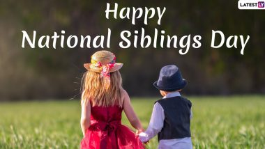Siblings Day 2020 Images & HD Wallpapers For Free Download Online: WhatsApp Stickers, GIF Greetings and Messages To Send on National Siblings Day