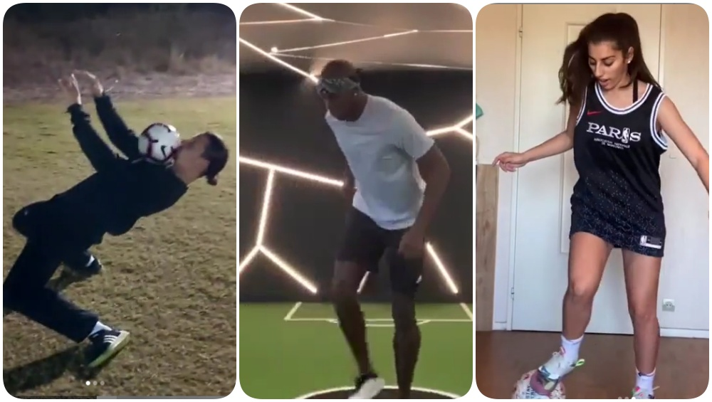 Zlatan Ibrahimovic, Paul Pogba & Lisa Zimouche Show Off Their Crazy Freestyle Football Skills During Quarantine Amid Coronavirus Crisis(Watch Videos)