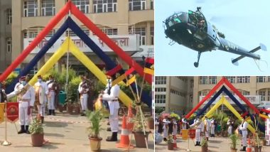 Indian Army, Navy, Air Force Honouring COVID-19 Warriors Live Streaming: Watch Video Telecast of IAF Flypast and Showering Flower Petals and Navy's Illumination Show