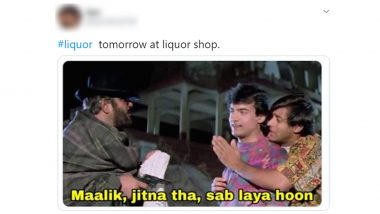 Lockdown 3.0 Funny Memes and Jokes: Now That Liquor Shops Will Open in All Zones Apart from the Containment Zones, Netizens Flood Twitter With Hilarious Posts