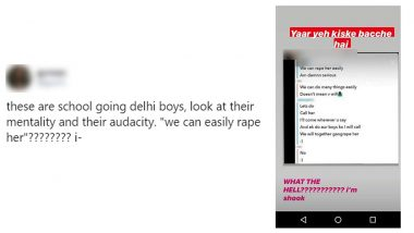 Bois Locker Room Instagram Chat Group of Delhi Teenage Boys Glorifying Gang Rape Busted by Twitterati; Delhi Police Action Sought