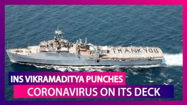 India's Aircraft Carrier, INS Vikramaditya 'Punches' Coronavirus On Its Deck