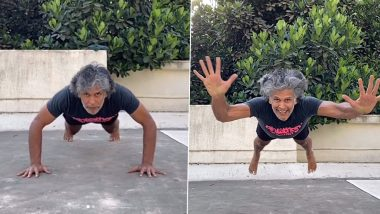 Milind Soman's Superman Pushups Slow Motion Video Is Giving Us Next-Level Fitness Goals