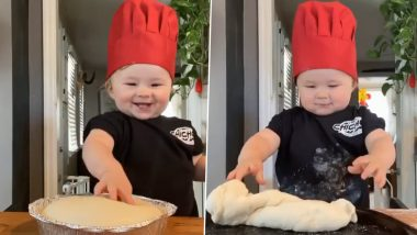How to Make Pizza at Home Amid Lockdown? Baby Chef Kobe Is Here with DIY Recipe and TBH It Is Way Too Cute to Handle! (Watch Video)