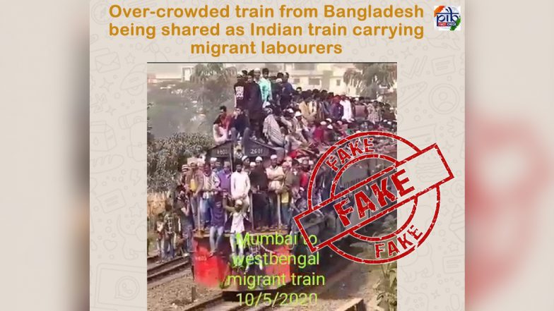 Shramik Special Train from Mumbai to West Bengal 'Overcrowded'? Fake News, Video Going Viral is From Bangladesh, Reveals Fact Check