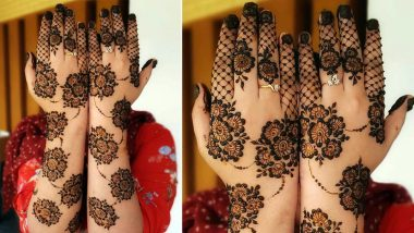 Eid al-Fitr 2020 Mehndi Designs: Latest Arabic Henna Patterns With Floral Motifs, You Can Easily Apply on Hands and Feet At Home! (Watch Tutorial Videos)