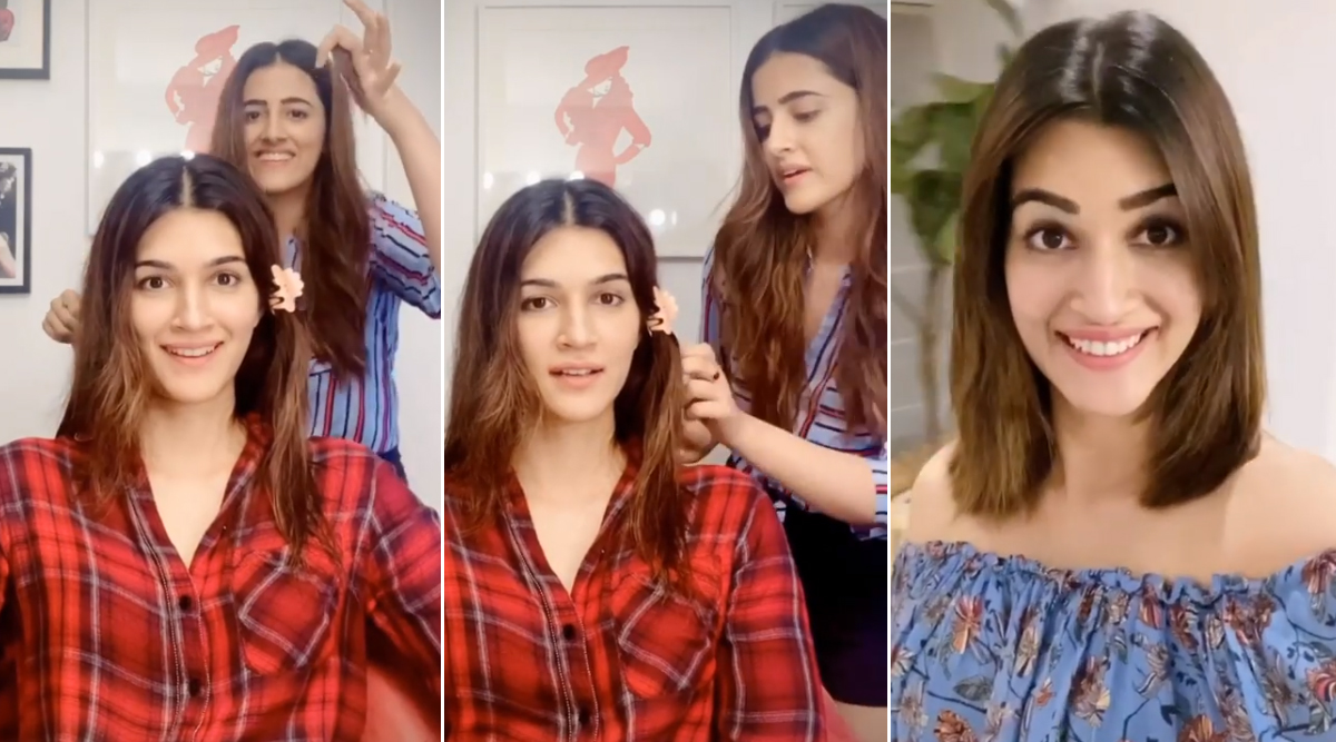 Kriti Sanon Flaunts Her New Look on Instagram After Sister Nupur Sanon Gives Her a Haircut in a Goofy Video!