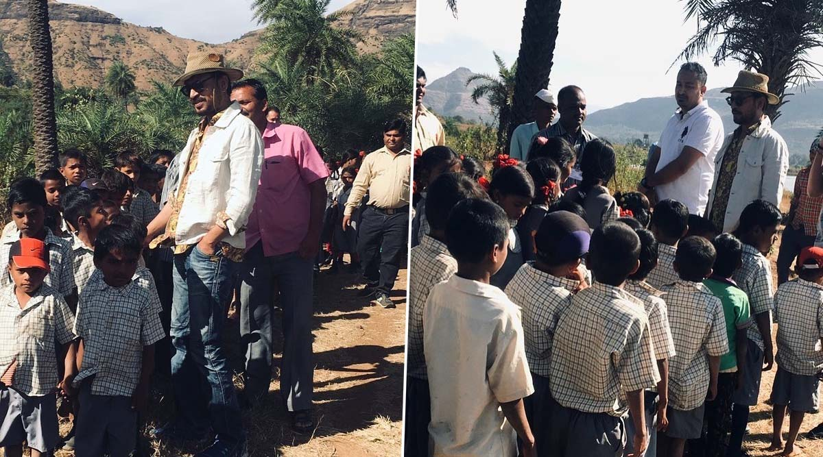 Irrfan Khan's Son Babil Shares Late Actor's Throwback Pics Interacting with School Kids and Principal During Their Farmhouse Visit