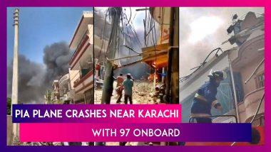 Pakistan International Airlines Plane Crashes Near Karachi's Jinnah International Airport
