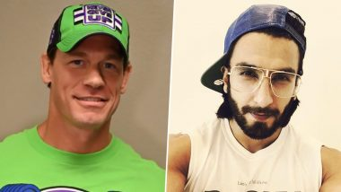 WWE Superstar John Cena Shares Ranveer Singh's Funny Pic in Afro Hair Style, Calls Him 'Stone Cold Singh' (See Pic)