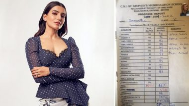 Samantha Akkineni Shares Her Standard VIII Report Card and 89% Marks Proves She Was Bright Kid