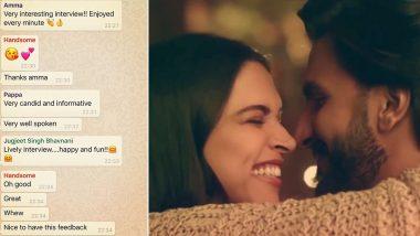 Deepika Padukone Saves Hubby Ranveer Singh's Name As 'Handsome' on Phone and Her WhatsApp Screenshot Is Proof