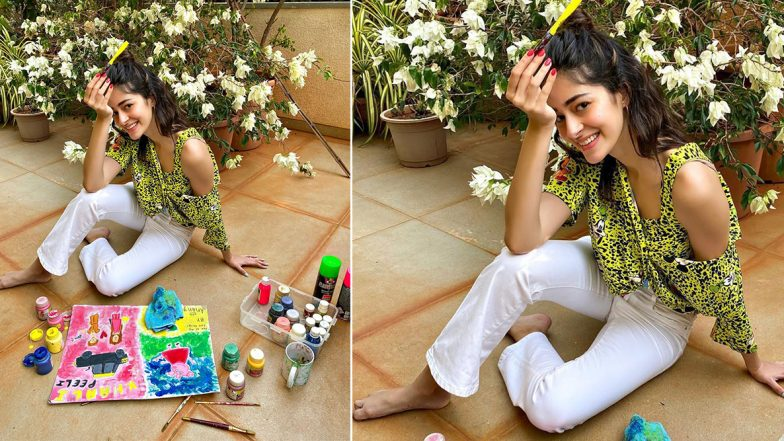 Ananya Panday's 'Unofficial' Khaali Peeli Poster Is a Piece of Her Artwork in Quarantine (View Pic)