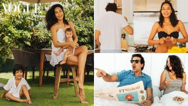Lisa Haydon Poses with her Hubby and Two Kids for Vogue India's New Quarantine Inspired Photoshoot (View Pics)