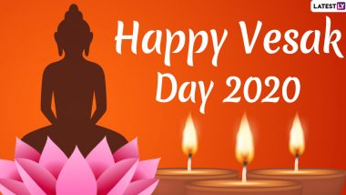 Happy Vesak Day 2020 Images & HD Wallpapers For Free Download Online: Celebrate Buddha Purnima With WhatsApp Stickers and GIF Greetings