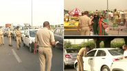 Heavy Traffic Seen at Delhi-Ghaziabad Border Near Ghazipur a Day After Border Sealed Again Amid Rising COVID-19 Cases; See Pics